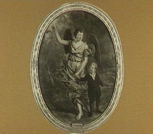 Portret van een onbekende jongen met zijn engelbewaarder