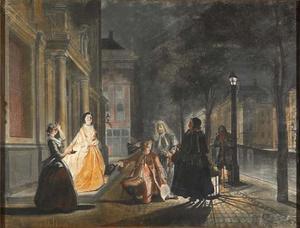Episode uit Lubbert Lubbertse of de geadelde boer een klucht uit 1686 door Michiel van Breda (Derde akte, scène 7)