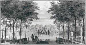 De vijver in de tuin van het Huis ter Mee bij Oostkapelle