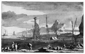Zuidelijke haven met vuurtoren