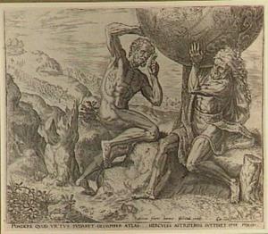 Hercules draagt een wereldbol