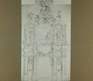 Ontwerp voor een triomfpoort voor de intocht van Aartshertog Willem van Oostenrijk in Antwerpen op 27 maart 1648