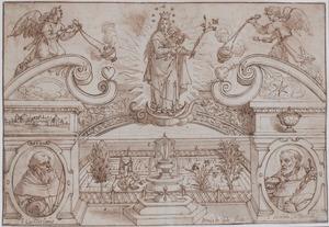Maria en Kind, de H. Willem van Aquitanië en de H. Nicolaas van Tolentino