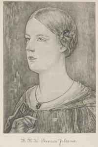 Portret van koningin Juliana (1909-2004) als kroonprinses
