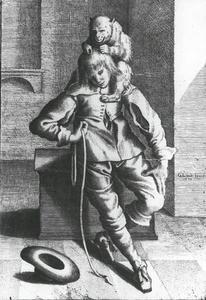 Cavalier met aap