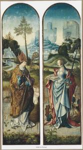 De HH. Nicolaas (links) en Catharina (rechts)