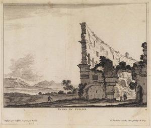 Landschap met ruïne van het Colosseum van Rome