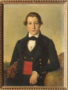 Portret van waarschijnlijk Wilhelm Cornelis Snellebrand (1818-1841)