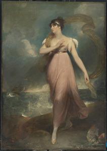 Portret van een vrouw als Miranda, naar verluidt mevrouw Gibbon