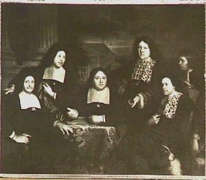 Groepsortret van de gouverneurs van de Lakenhal te Leiden
