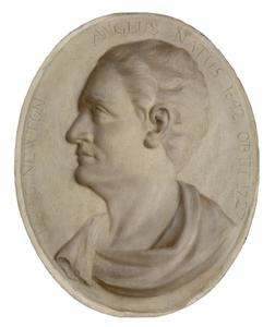Portret en profil van Isaac Newton