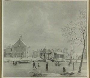 Amsterdam, het Polderhuis aan de Boerenwetering gezien vanaf de Mennonietensloot