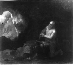 Hieronymus in een grot