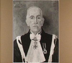 Portret van Mr. Dr. Lodewijk Ernst Visser, o.a. President van de Hoge Raad 1939 (afgezet door de Duitsers in 1941), geboren Amersfoort 21-8-1871, overleden Den Haag 17-2-1942, gehuwd met Cornelia Johanna Sara Wertheim