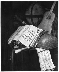 Vanitasstilleven met muziek instrumenten