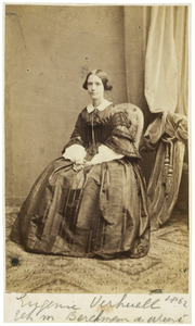 Portret van Eugenie Marie Ver Huell (1824-1886)