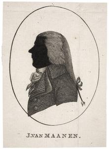 Portret van Joh. van Maanen (....-....)
