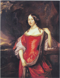 Portret van Titia van Burmania (1647-1685)