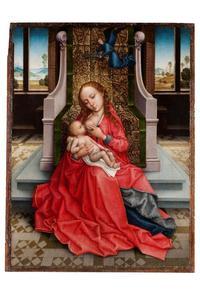 Maria met kind, gekroond door een engel