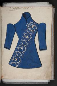 Geborduurde toga van een lid van de Broederschap van het Heilig Bloed in Brugge