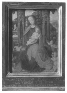 Tronende Maria met kind en engelen (fragment)