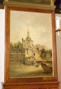 Gezicht op de Ooster Oude Hoofdpoort te Rotterdam