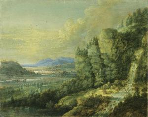 Weids berglandschap met een waterval