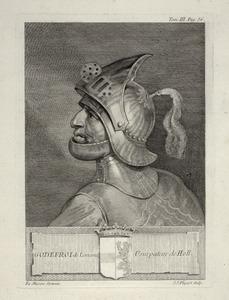 Portret van Godfried 'met de Bult' van Lotharingen (1045-1076)