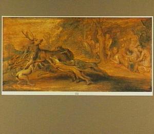 De dood van Actaeon tijdens de hertenjacht van Diana en haar gezellinnen (Ovidius, Metamorfoses, III:206-250)