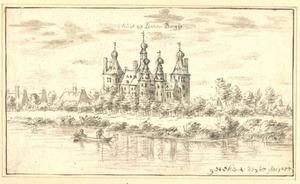 Gezicht op kasteel Batenburg met het dorp