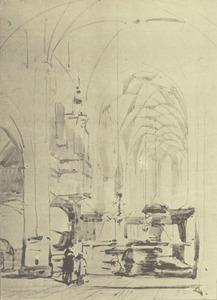 Interieur van de kerk te Hattem
