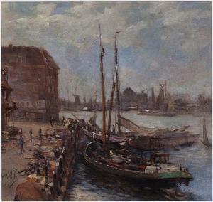 Gezicht op de Bomkade, Dordrecht