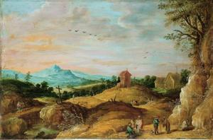 Berglandschap met boeren en zigeunerinnen