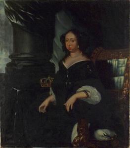Portret van Hedvig Eleonora (1635-1715), koningin van Zweden