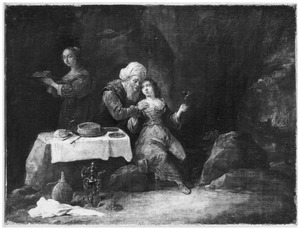 Lot door zijn dochters dronken gevoerd (Genesis 19:33)