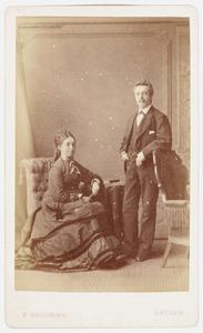 Portret van Jan Cornelis van Beek (1847-1931) en Johanna Jacoba van Nouhuys (1849-1929)