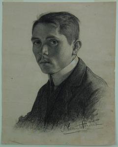 Zelfportret van Jan Frank (1885-1945)