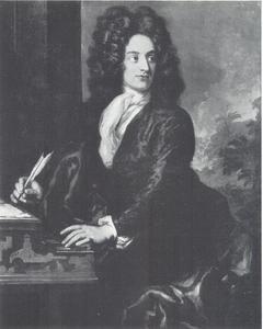Portret van de componist Attilio Ariosti