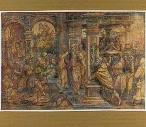 Romulus en Remus brengen het hoofd van Amulius naar Numitor