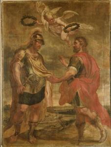 Verzoening tussen Romulus en Titus Tatius