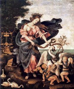 Allegorie van de muziek (muze Erato)