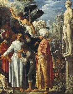 De heilige Laurentius voor zijn martelingen