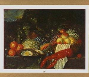 Vruchtenstilleven met een kreeft