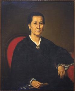 Portret van H.A. Hamar de la Bretonnière, echtgenote van Hendrik de Bruyn