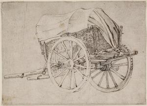 Een huifkar met twee wielen