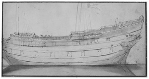 Studie van een schip