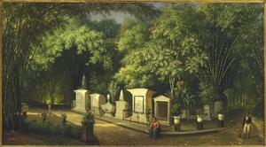 Kerkhof in het park van Buitenzorg