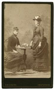 Dubbelportret van C.E. van der Wissel met een onbekend vrouw