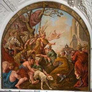 Het oprichten der zegetekens door de Batavieren (Tacitus, Germania)