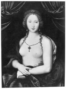 Portret van een vrouw, naakt tot op de taille